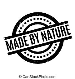 Made By Nature rubber stamp. Grunge design with dust...