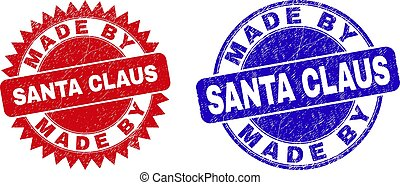 MADE BY SANTA CLAUS Rounded and Rosette Seals with Unclean Style