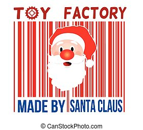 Made by Santa Claus toy factory barcode