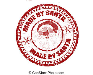 Made by Santa stamp
