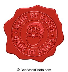 Made by Santa wax seal