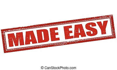 Made easy - Rubber stamp with text made easy inside, vector...