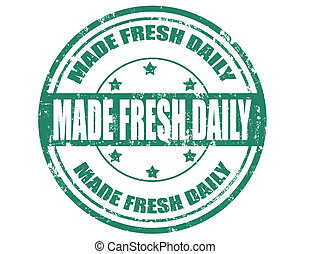Made fresh daily-stamp