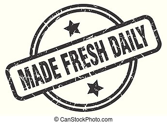 made fresh daily stamp
