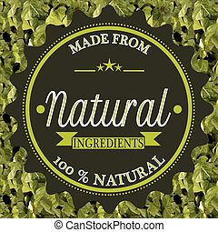 made from ingredients stamp
