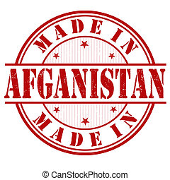 Made in Afganistan stamp - Made in Afganistan grunge rubber...