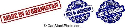 MADE IN AFGHANISTAN Grunge Stamp Seals
