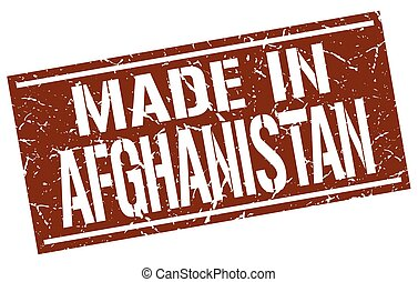 made in Afghanistan stamp