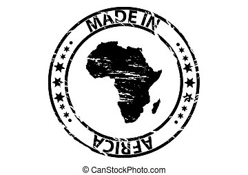 Made in Africa - rubber stamp
