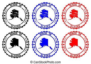 Made in Alaska - rubber stamp