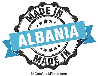 made in Albania round seal