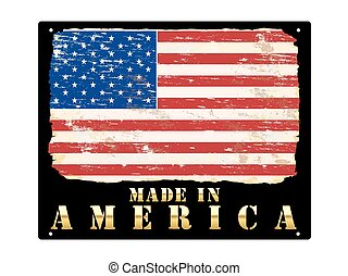 Made In America Gold Sign