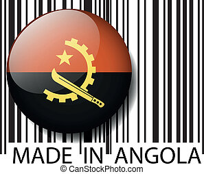 Made in Angola barcode. Vector illustration