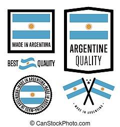 Made in Argentina label set