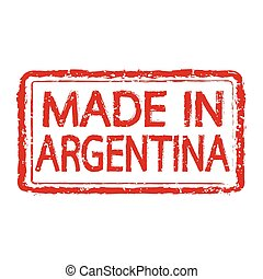 Made in ARGENTINA stamp text Illustration