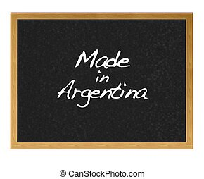 Made in Argentina.