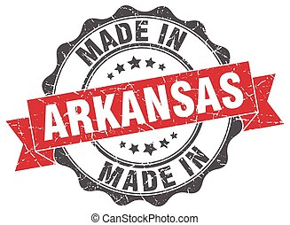 made in Arkansas round seal