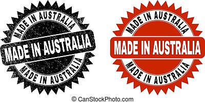 MADE IN AUSTRALIA Black Rosette Seal with Corroded Surface