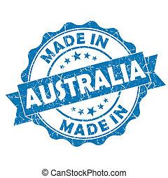 made in australia grunge seal