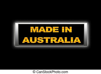 Made in Australia.