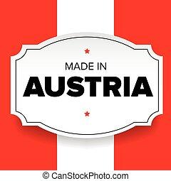 Made in Austria label vector