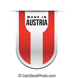 Made in Austria ribbon vector