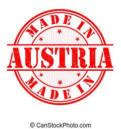 Made in Austria stamp - Made in Austria grunge rubber stamp...