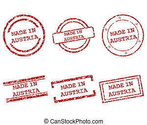 Made in Austria stamps