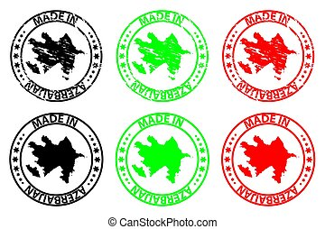 Made in Azerbaijan - rubber stamp