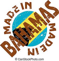 Made in Bahamas - vector label Made in Bahamas
