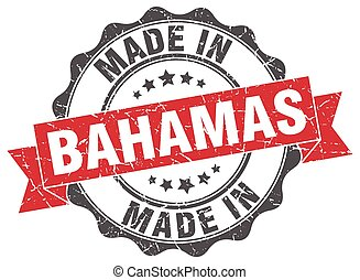 made in Bahamas round seal