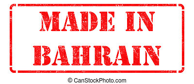 Made in Bahrain on Red Stamp.