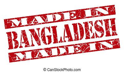 made in Bangladesh grunge red stamp