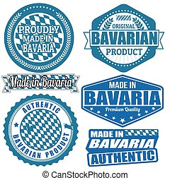 Made in Bavaria stamps or labels