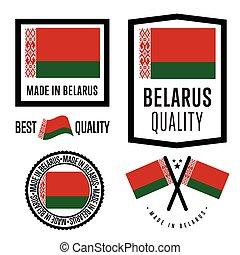 Made in Belarus label set