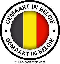 made in belgium flag icon