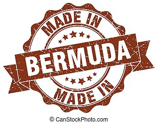 made in Bermuda round seal