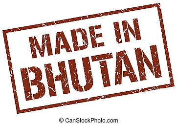 made in Bhutan stamp