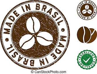 Made In Brasil Stamp with Dirty Style