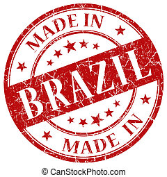 Made In Brazil red stamp