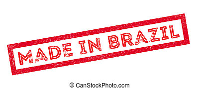 Made in Brazil rubber stamp