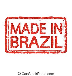 made in brazil stamp text Illustration