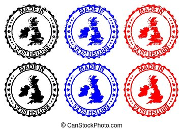 Made in British Isles - rubber stamp