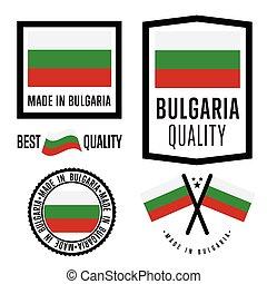 Made in Bulgaria label set