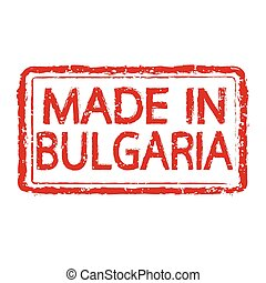 Made in BULGARIA stamp text Illustration
