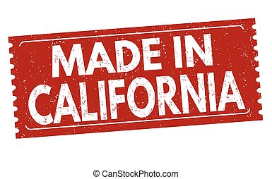 Made in California sign or stamp