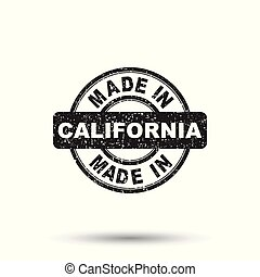 Made in California stamp. Vector illustration on white background