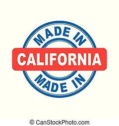 Made in California. Vector emblem flat