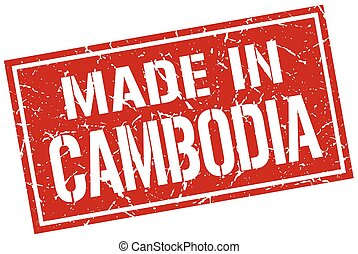 made in Cambodia stamp