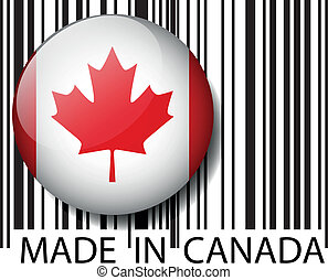 Made in Canada barcode. Vector illustration